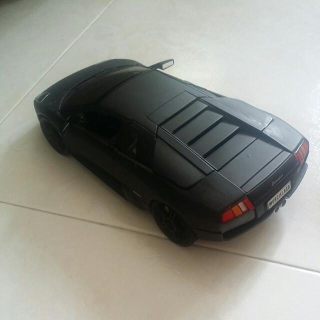 1 18 Welly Lamborghini Murcielago Matte Black On Carousell