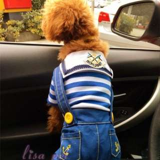Dungaree for puppies puppy chihuahua *brand new*