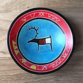 Finnish(Suomi) Artwork Decorative Bowl (Red/blue)