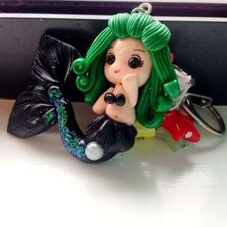 Handmade Mermaid Keychain