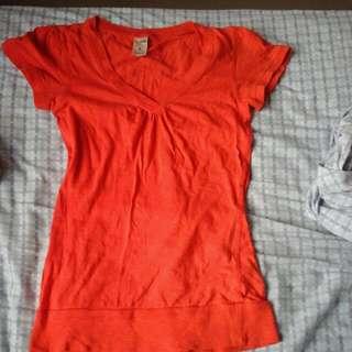 Bright Orange T Shirt Size 8