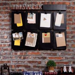 Wall Metal Clipboard Weekly Memo Organizer