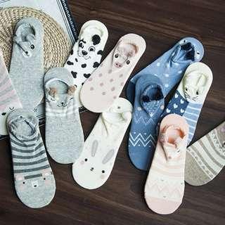 Cute animal ankle socks
