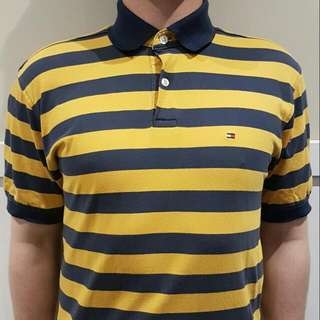 Tommy Hilfiger Striped Polo Size XL (Fits more like a long L)