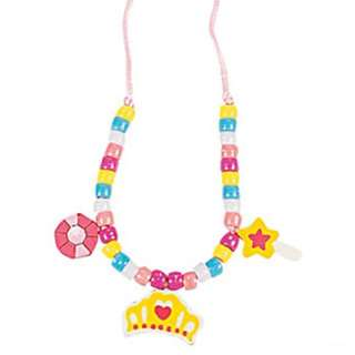 DIY Princess Wooden Necklace Craft Kit