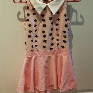 Pink Peter Collared Romper