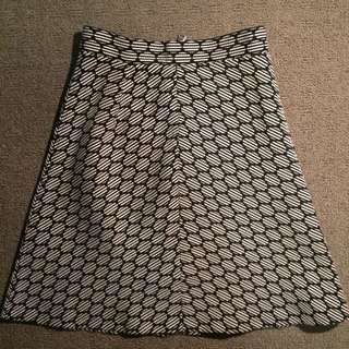 Zara Black and White Skirt (XS)