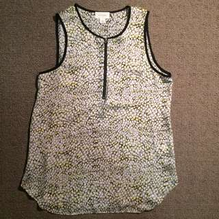 Witchery Spotted Sleeveless Top (Size 4)