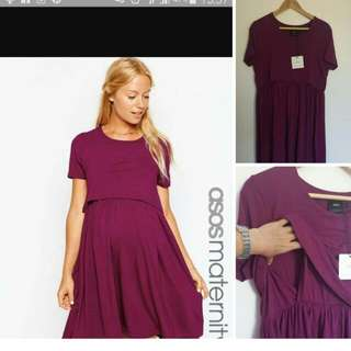 BNWT Maternity Dress (Pregnancy/Nursing) Sz Fits From M TO XL