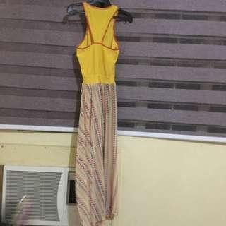 Overlapped Maxi Dress