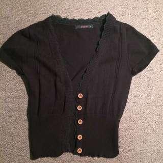 Pilgrim Short Sleeve Button Up Jacket (Size 8)