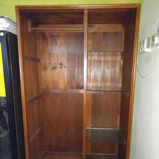 Solid Wood Display Cabinet with glass shelves