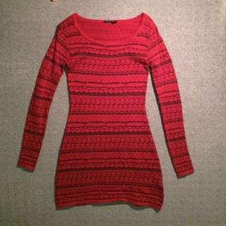 Portmans Red Long Sleeve Dress (S)