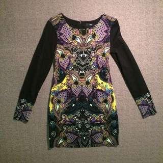 Sportsgirl Print Dress (Size XS)