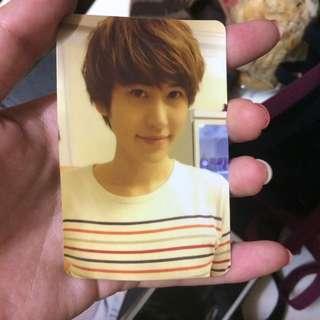 Super Junior圭賢官方小卡