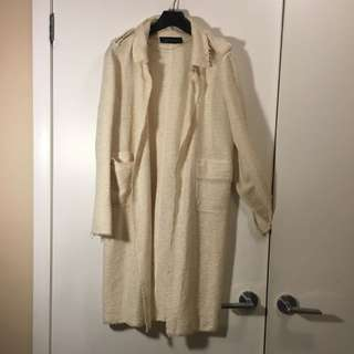 Zara Long Light Coat