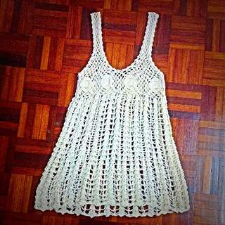 Balinese hand knitted lace dress