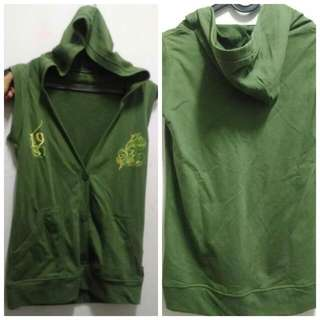 Outer Sleeveless With Hoodie