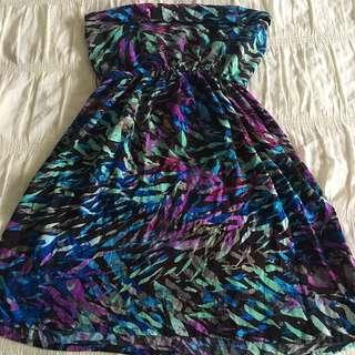 Colourful Girls' Dress + Fabric Belt