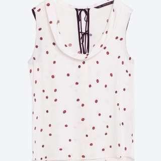 Zara Ladybug Print Blouse