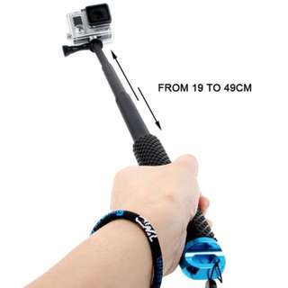**SALE** TMC Handheld Extendable Pole Monopod with Screw for GoPro Hero 5/ 4 / 3+ / 3 / 2, Max Length: 49cm(Blue)