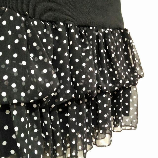 黑白水玉雪紡蓬裙 #女裝99出清