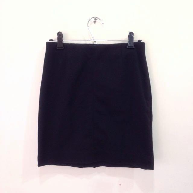 高腰短裙*黑