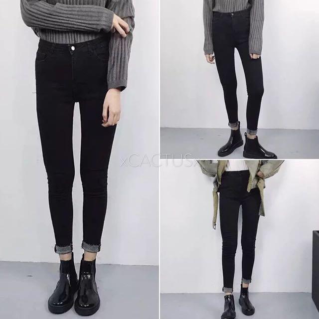 素色牛仔褲.