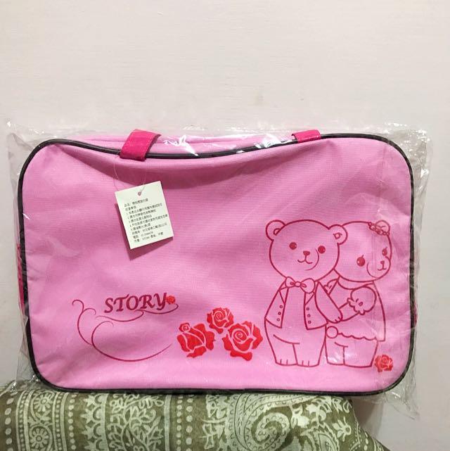 👝 全新粉紅色情侶熊旅行袋