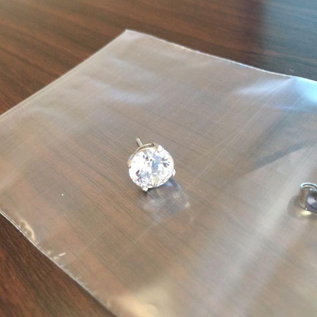 純銀 ✨ 四爪亮鑽耳環