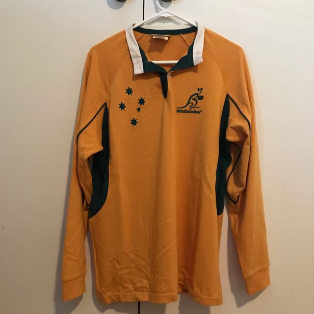 Australian Rugby Wallabies Long Sleeve Jersey/Jumper