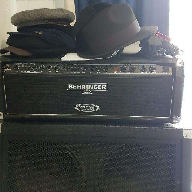 Behringer V-Tone GMX1200H Head + BG412S Ultrastack Cab