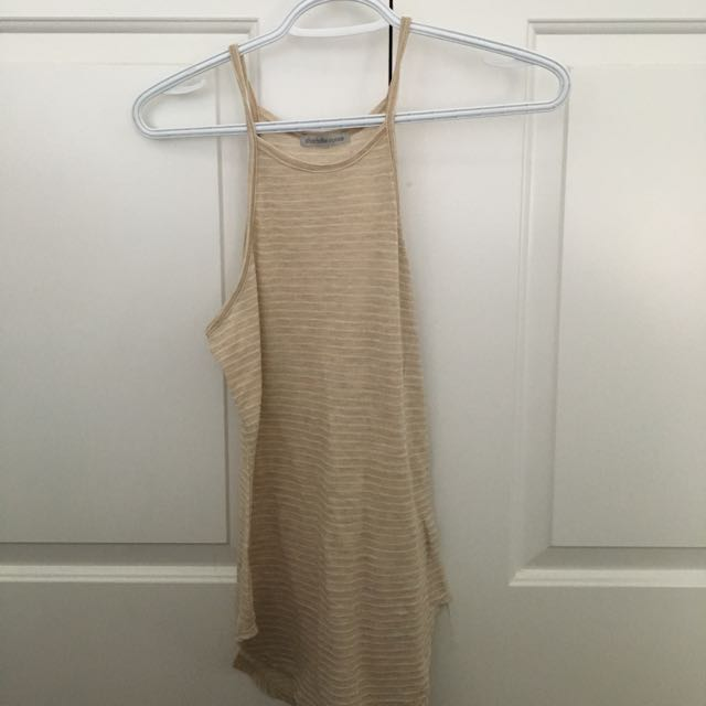 Charlotte Russe Beige Strapped Top