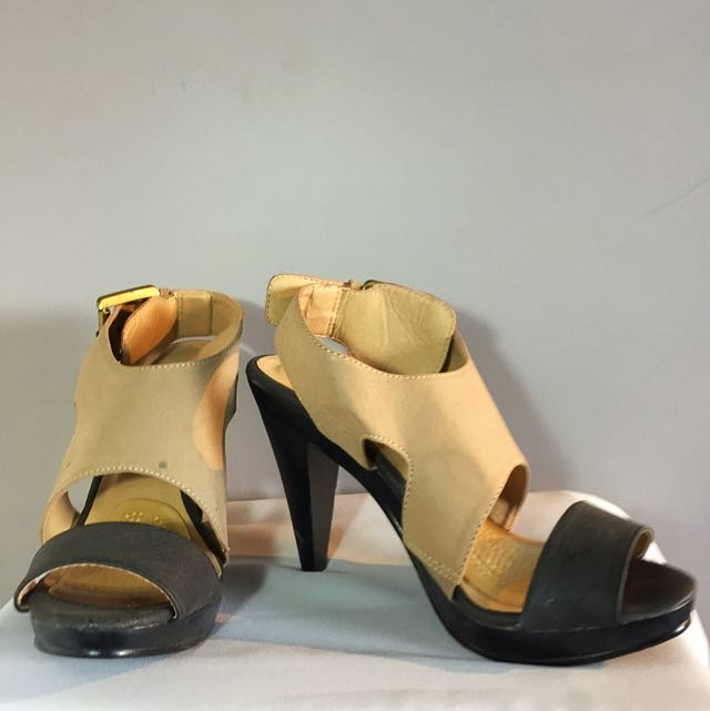 Black And Tan Heels