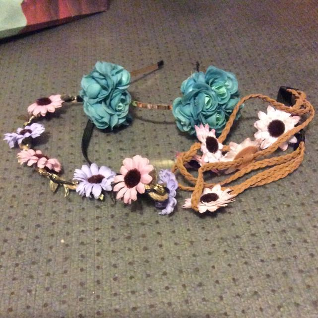 Brand New Flower Headbands