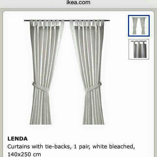 Brand new IKEA Curtain set with matching rod set,