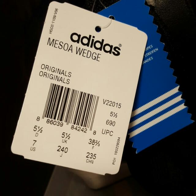 Brand New Without Box Womens Adidas Wedge Sandals