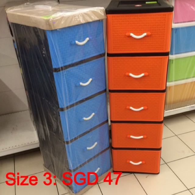 Brandnew plastic Drawers/Cabinet 5 tiers For Sales Furniture Shelves u0026 Drawers on Carousell & Brandnew plastic Drawers/Cabinet 5 tiers For Sales Furniture ...