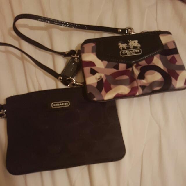 Coach Wristlet 30 Each OR Both For 50.