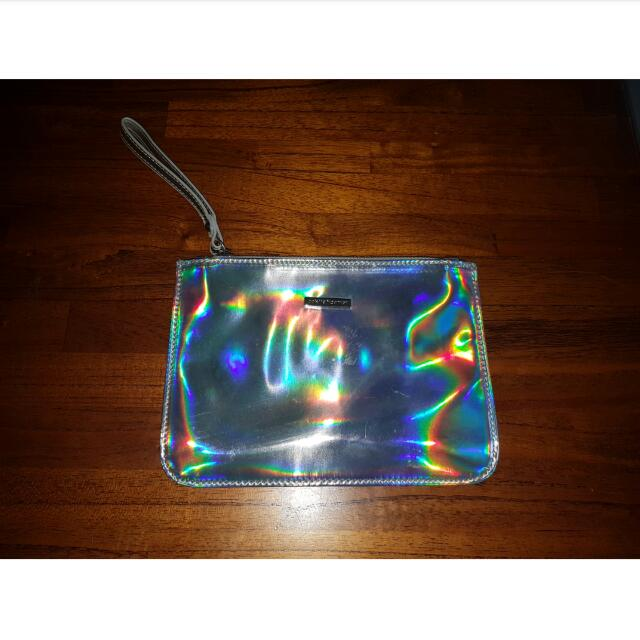 Collette Holographic Clutch
