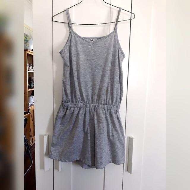 Cotton On Light Gray Playsuit Size S
