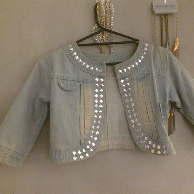 Denim Embellished Jacket