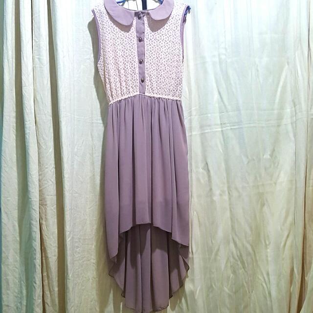 Dress w/ Short Frint And Long Back
