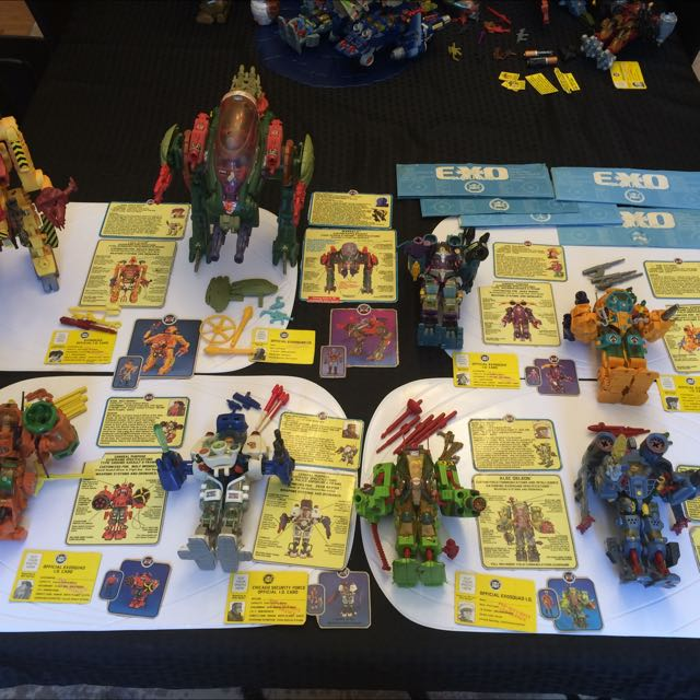 Exosquad, Robotech & Battletech toys ALMOST COMPLETE SETS