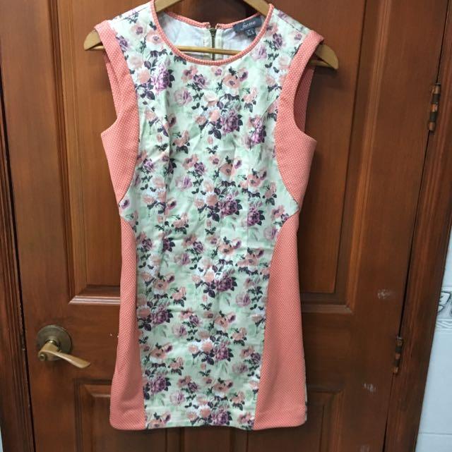For Me Pink Floral Dress