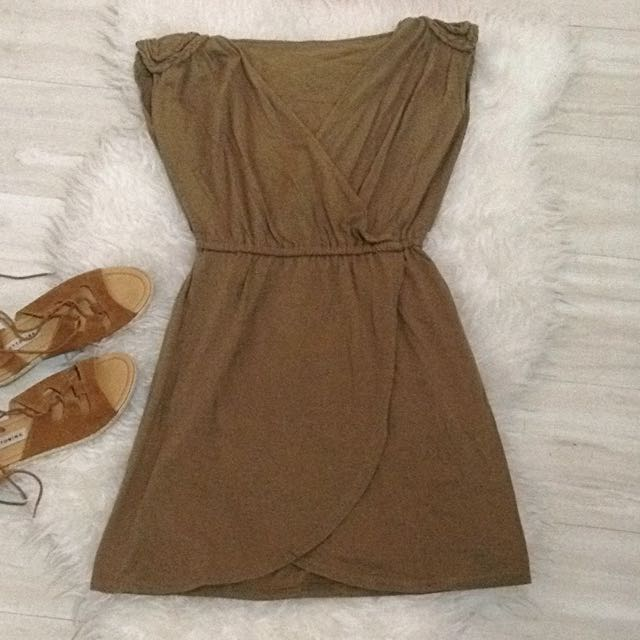 Green Army Grecian Dress