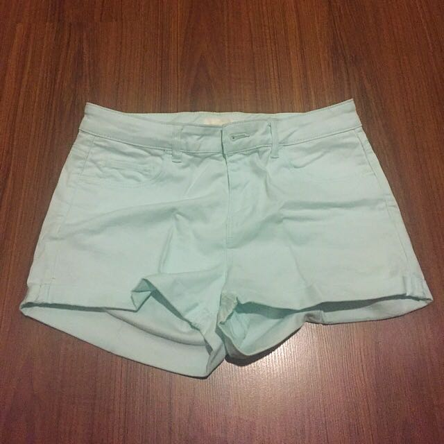 H&M Faded Mint Green Shorts