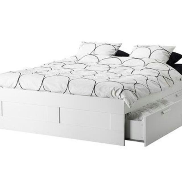 Ikea Brimnes Bed And Frame, Furniture on Carousell