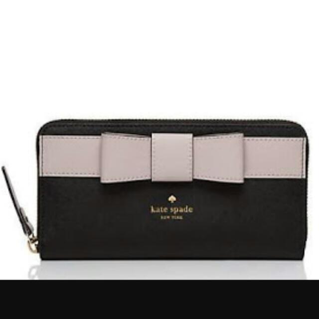 Kate Spade Black Kirk Park Saffiano Wallet