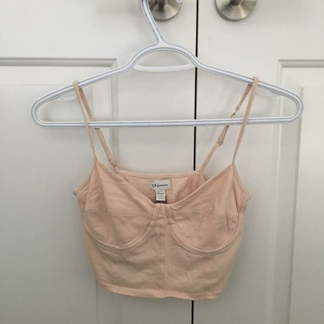 Dynamite Light Pink Strappy Crop Top